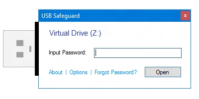 Software to encrypt and protect data with a password on your removable pen drive versatile Screen Shot